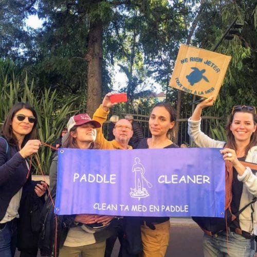 Paddle Cleaner à la Marche pour le climat