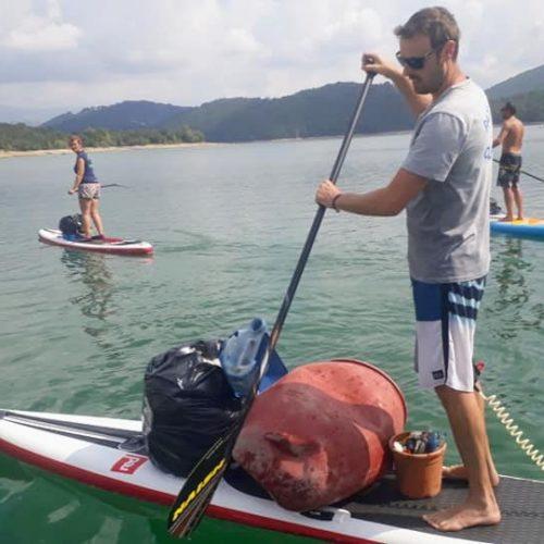 Nettoyage au Lac de Saint-Cassien