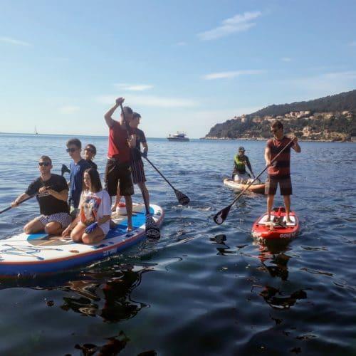 Nettoyage avec le Big Mama Paddle à Villefranche-sur-mer