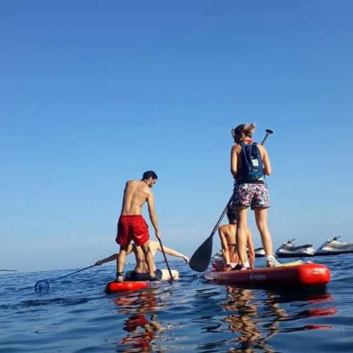 Nettoyage en paddle un soir d'été suivi d'un pic-nic sur l'eau
