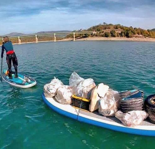 Nettoyage lac de Saint Cassien ,en souvenir de notre ami Tristan ...