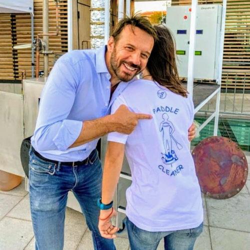 Rencontre avec Samuel LeBihan lors de la présentation de la machine EarthWake à Nice